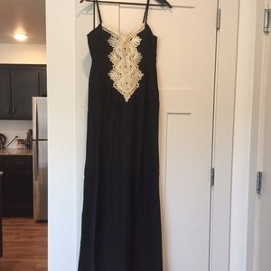 Kelsea Black Silk Maxi Dress